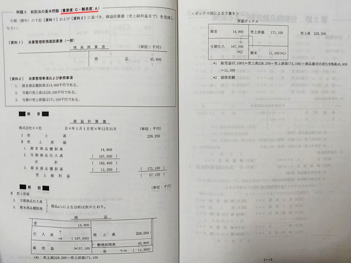 クレアールの財務会計論テキスト(総記法)②